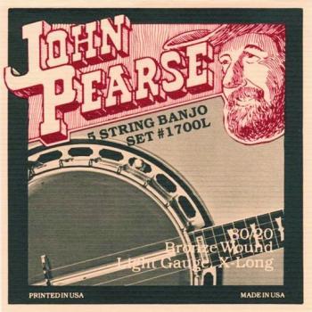 John Pearse Ex. Long Bronze 5 String Banjo Strings (JP-JP1700L)
