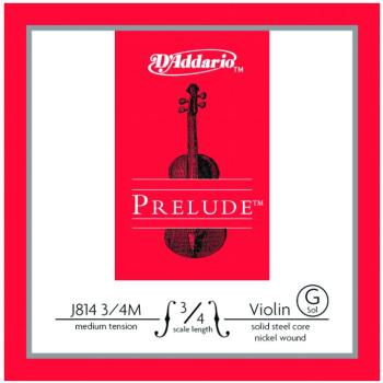 Prelude Medium Tension Single Violin String, 3/4 (PD-MTR-J8134M)