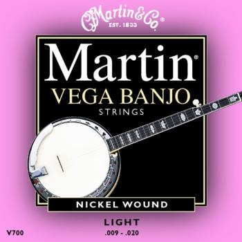 Martin Vega Banjo String Set, 5 String, Light (MA-V700)