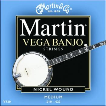 Martin Vega Banjo String Set, 5 String, Medium (MA-V730)