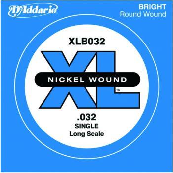 D'Addario XL Nickel Wound Single Bass String, .032 (DD-XLB032)