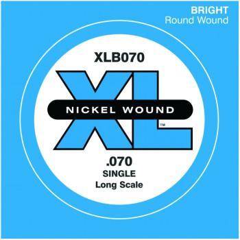 D'Addario XL Nickel Wound Single Bass String, .070 (DD-XLB070)