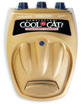 Danelectro Cool Cat V2 Transparent Overdrive Guitar Effects Pedal (DN-CTO2)