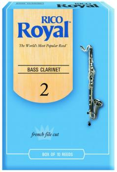 Rico Royal Bass Clarinet Reeds, 10 Per Box (RR-MTR-702R)