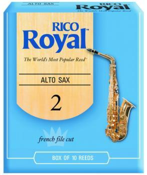 Rico Royal Alto Sax Reeds, 10 Per Box (RR-MTR-704R)