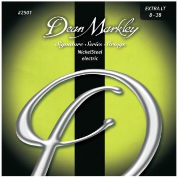 Dean Markley Nickel Steel Electric Guitar Strings, Extra Light (8 - 38) (DM-2501B)