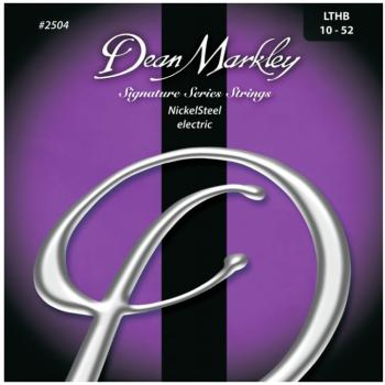 Dean Markley Nickel Steel Electric Guitar Strings, Lite Top/Heavy Bottom (10 - 52) (DM-2504)
