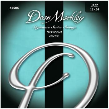 Dean Markley Nickel Steel Electric Guitar Strings, Jazz (12 - 54) (DM-2506B)