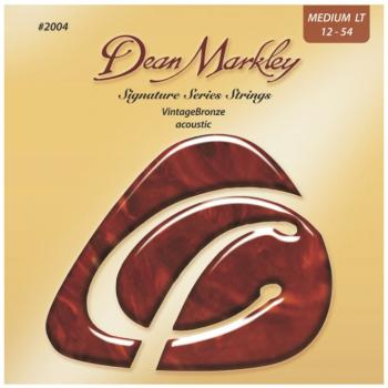 Dean Markley Vintage Bronze Acoustic Guitar Strings, Medium Light (12 - 54) (DM-2004A)
