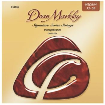 Dean Markley Vintage Bronze Acoustic Guitar Strings, Medium (13 - 56) (DM-2006A)