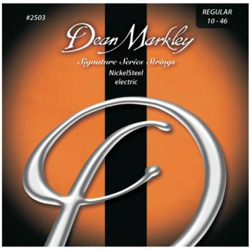 Dean Markley Nickel Steel Electric Guitar Strings, Regular (10 - 46) (DM-2503B)
