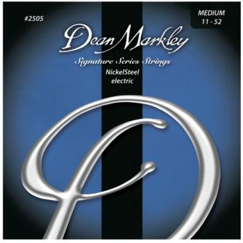 Dean Markley Nickel Steel Electric Guitar Strings, Medium (11 - 52) (DM-2505B)