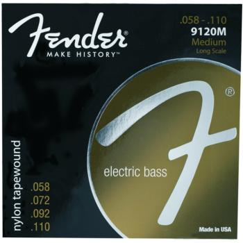Fender Nylon Tape Wound Electric Bass Strings, (58 - 110) (FE-0739120406)