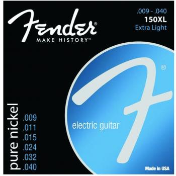 Fender Original 150XL Electric Guitar Strings, Extra Light (9 - 40) (FE-0730150402)