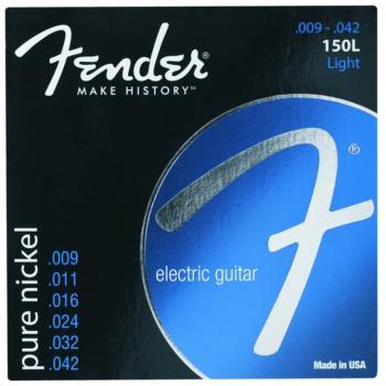 Fender Original 150L Electric Guitar Strings, Light (9 - 42) (FE-0730150403)