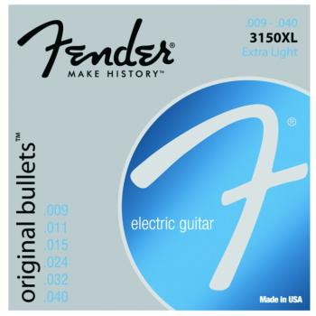 Fender 3150XL Original Bullets Pure Nickel Wound Electric Guitar Strings, Extra Light (9 - 40) (FE-0733150402)