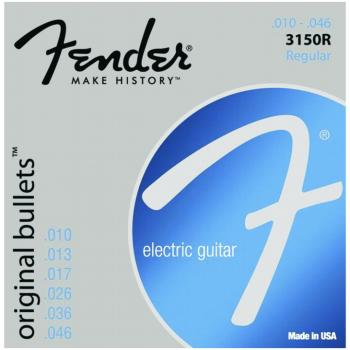 Fender 3150R Original Bullets Pure Nickel Wound Electric Guitar Strings, Regular (10 - 46) (FE-0733150406)
