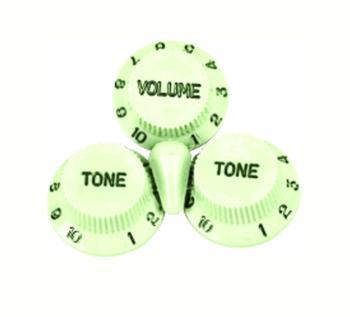 W.D. Strat Style Cap & Knob Set, Mint Green (WD-SKSVG)