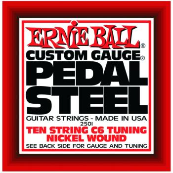 Ernie Ball 10-String C6 Pedal Steel Guitar Strings (EB-2501)