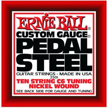 Ernie Ball 10-String C6 Pedal Steel Guitar Strings (EB-2501)