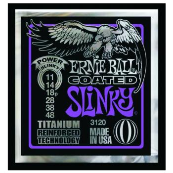 Ernie Ball Coated Electric Strings, Power Slinky (EB-3120)