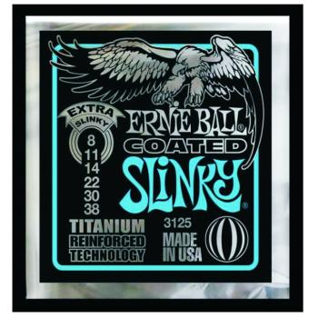 Ernie Ball Coated Electric Guitar Strings, Extra Slinky (8 - 38) (EB-3125)