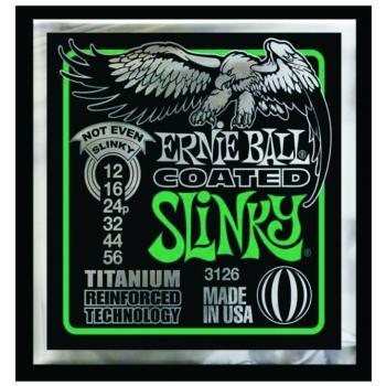 Ernie Ball Coated Electric Guitar Strings, Not Even Slinky (12 - 56) (EB-3126)