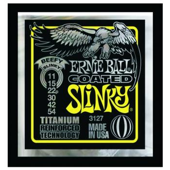 Ernie Ball Coated Electric Guitar Strings, Beefy Slinky (11 - 54) (EB-3127EB)