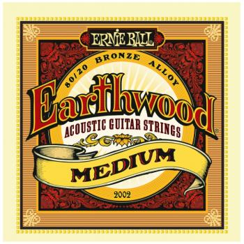 Ernie Ball Earthwood 80/20 Bronze Acoustic Guitar Strings, Medium (13- 56) (P02002)