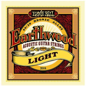 Ernie Ball Earthwood 80/20 Bronze Acoustic Guitar Strings, Light (11- 52) (P02004)