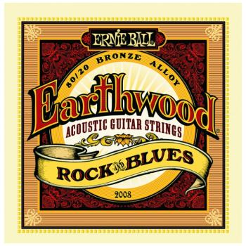 Ernie Ball Earthwood 80/20 Bronze Acoustic Guitar Strings, Rock & Blues (10 - 52) (P02008)