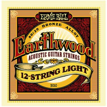 Ernie Ball Earthwood 80/20 Bronze 12 String Acoustic Guitar Strings, Light (9 - 46) (P02010)