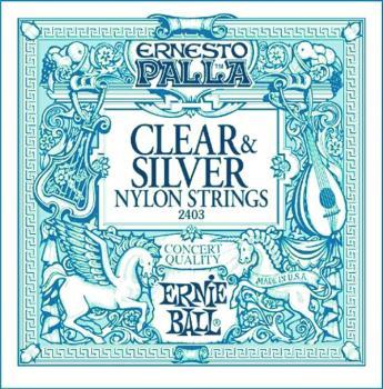 Ernie Ball Ernesto Palla Nylon Silver & Clear Classical Guitar Strings (EB-2403)