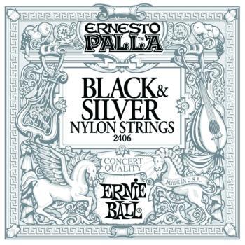 Ernie Ball Ernesto Palla Nylon Black & Silver Classical Guitar Strings (EB-2406)