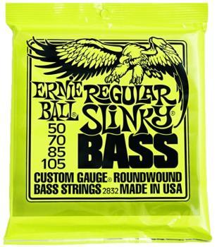 Ernie Ball Nickel Wound Electric Bass Strings, Regular Slinky (50 - 105) (EB-2832)