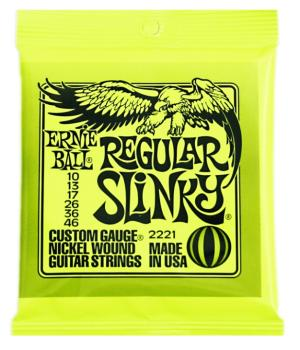 Ernie Ball Nickel Wound Electric Guitar Strings, Regular Slinky (10 - 46) (EB-2221)