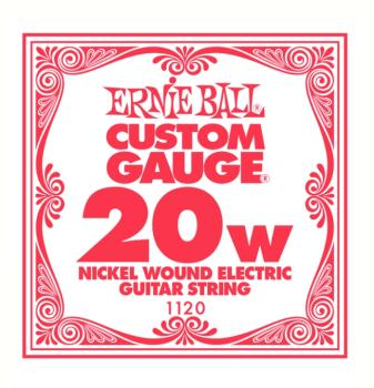 Ernie Ball Nickel Wound Single Electric Strings, .020 (6) (EB-1120)