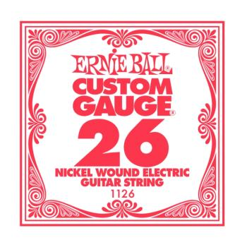 Ernie Ball Nickel Wound Single Electric Strings, .026 (6) (EB-1126)