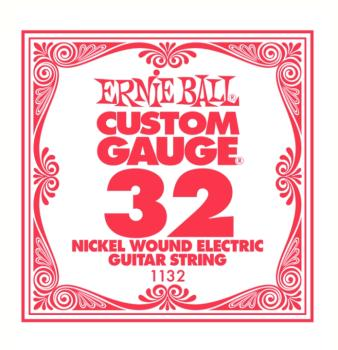Ernie Ball Nickel Wound Single Electric Strings, .032 (6) (EB-1132)