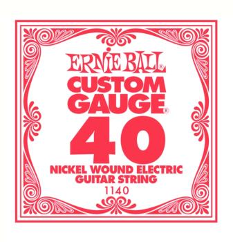 Ernie Ball Nickel Wound Single Electric Strings, .040 (6) (EB-1140)