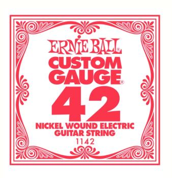 Ernie Ball Nickel Wound Single Electric Strings, .042 (6) (EB-1142)