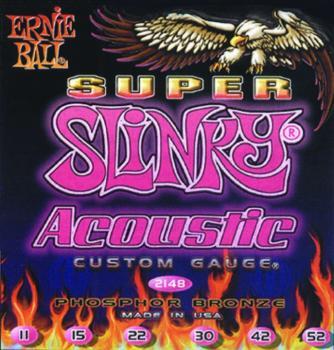 Ernie Ball Earthwood Phosphor Bronze Acoustic Guitar Strings, Light ( 11 - 52) (P02148)