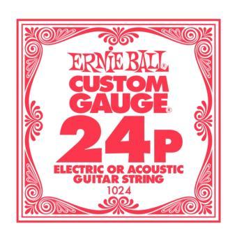 Ernie Ball Plain Steel Electric/Acoustic Single Strings, .024 (6) (EB-1024)