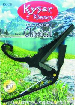 Kyser Classical Capo, Black (KY-KGCB)