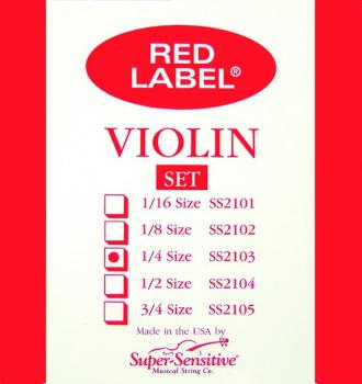 Super Sensitive Orchestra Tone Violin Strings, 1/4 (SU-0012103)
