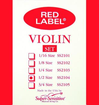Super Sensitive Orchestra Tone Violin Strings, 1/2 (SU-0012104)