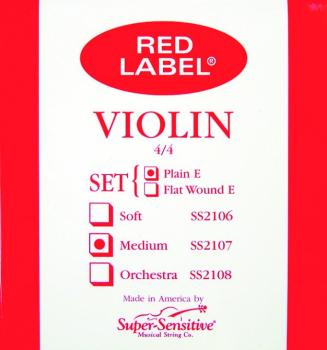 Super Sensitive Medium Tone Violin String, 4/4 - E (SU-0012117)
