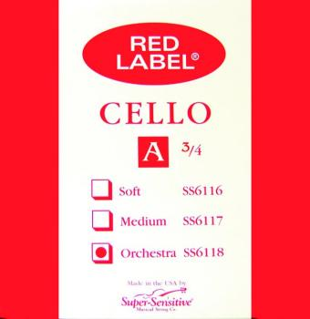 Super Sensitive Orchestra Tone Cello String, 3/4 (SU-MTR-S5T)