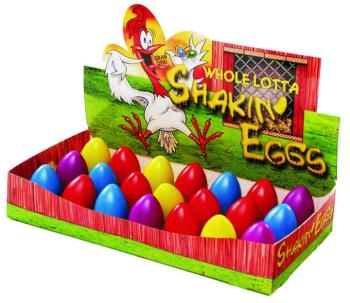 Trophy Shakin' Eggs, Assorted Colors - 24 per box (TR-14024)