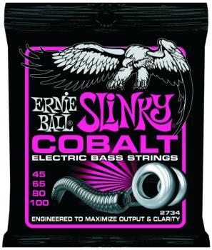 Ernie Ball Cobalt Electric Bass Strings, Super Slinky (45- 100) (EB-2734)